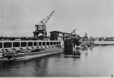 Port Popowice, fragment nabrzeża. 1929