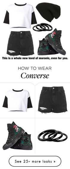 """""""Moronic"""" by picky-picky on Polyvore featuring ComeForBreakfast, Topshop, Converse, Phase 3 and Furla"""