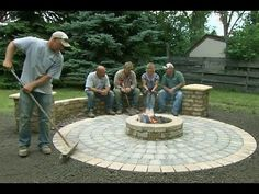 How to Build a Round Patio with a Fire Pit - This Old House