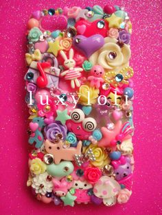 Pastel & Pink kawaii decoden iphone 5 phone case, luxyloli.etsy.com