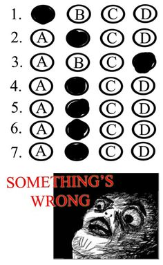 3. Tests are one of her weaknesses. She gets test anxiety and cannot concentrate, even though she knows the answers.