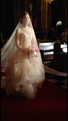 My Gorgeous Cecilio Abad gown I'm a happy bride ❤️❤️