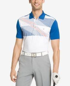 Izod Men's Colorblocked Performance Golf Polo - Blue XXL