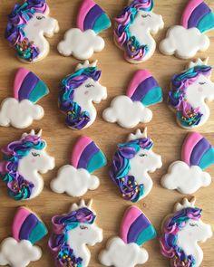 Unicorn cookies using sweet sugarbelle cutters!