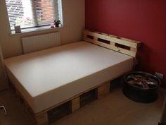 beautiful diy pallet bed
