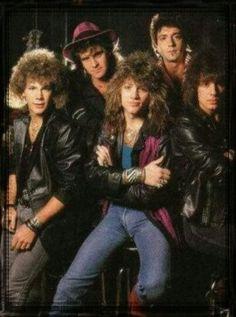 Bon Jovi: Jon Bon Jovi, David Bryan, Tico Torres & (past members) Dave Sabo, Alec John Such & Richie Sambora. Jon Bon Jovi, Great Bands, Cool Bands, Big Hair Bands, 80s Hair Metal, Leif Garrett, Musical Hair, Bon Jovi Always, Greatest Rock Bands