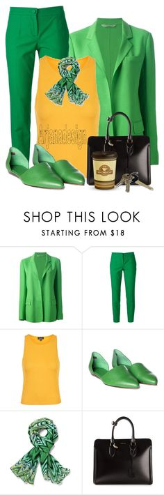 """""""OFF TO WORK YOU GO....."""" by arjanadesign ❤ liked on Polyvore featuring Reed Krakoff, Dolce&Gabbana, Topshop, Jenni Kayne, Alexander McQueen and Avon"""