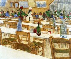 Van Gogh, Interior of the Restaurant Carrel in Arles, August 1888. Oil on canvas, 54 x 64.5 cm. Private collection.