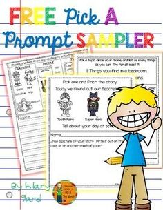 These engaging visual writing prompts are a fun way to get even your reluctant writer& writing! These writing prompts are PERFECT for your writing block: Writer& Workshop, Writing Center, or Work on Writing. They choose from a few options and write. Writing Prompts For Writers, Picture Writing Prompts, Creative Writing Prompts, Writing Lessons, Writing Resources, Teaching Writing, Writing Activities, Writing Centers, Teaching Resources