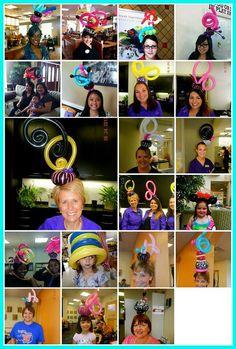 Balloon hats #balloon #twisting