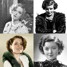 1930s hairstyles. Hairstyle that will be GREAT on Mamma!!!