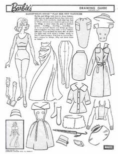Miss Missy Paper Dolls vintage Barbie Drawing Guide Portfolio