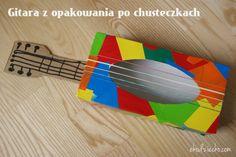 Z opakowania po chusteczkach higienicznych zrobiliśmy najprawdziwszą w świecie, grającą gitarę. Teraz można do woli brzdąkać, bo struny zrobione z gumek recepturek wydają cichy, przyjemny dla ucha ton:) Space Crafts Preschool, Creative Curriculum Preschool, Toddler Arts And Crafts, Cute Kids Crafts, Music Activities, Preschool Activities, Music For Kids, Art For Kids, Homemade Instruments