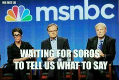 MSNBC, NBC, are owned by Comcast.