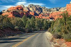 10. Red Rock Scenic Byway: Sedona, Arizona Photo via Alamy  via @AOL_Lifestyle Read more: http://www.aol.com/article/2015/04/01/10-classic-american-road-trips/21159374/?a_dgi=aolshare_pinterest#fullscreen