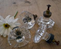 vintage glass knobs...I have these to go on my cabinets.
