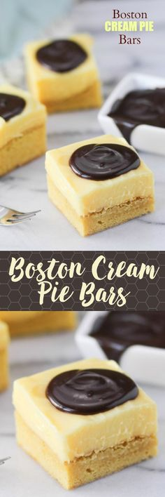 Boston Cream Pie is one of my favorite desserts and this is SUCH a fun handheld option. Everyone loves these!! They slice like a dream.