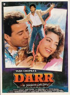 DARR (1993)SHAHRUKH KHAN JUHI CHAWALA  SUNNY DEOL PRESS BOOK BOLLYWOOD