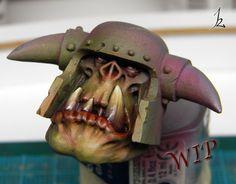 Karaikal Painting Studio: Orc Face SbS Process