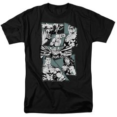Justice League A MIGHTY LEAGUE Ink Art Licensed T-Shirt All Sizes   eBay