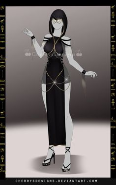 (closed) Outfit Adopt 695 - Nephthys by CherrysDesigns