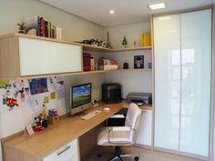 Trendy Home Office Quarto Design Ideas Mesa Home Office, Home Office Space, Home Office Desks, Small Office, Study Office, Home Office Organization, Office Decor, Office Ideas, Office Designs