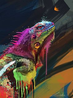 iguana paintings - Google Search