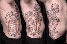 Geometric Pattern Tattoo by Chaim Machlev DotsToLines