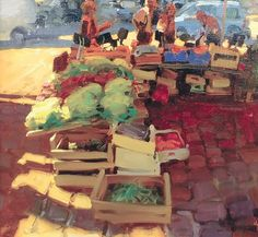 Kim English: ''Market Honfleurs""
