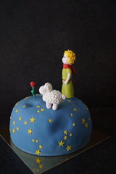 "Gâteau ""Le Petit Prince"" Little Prince Party, The Little Prince, Royal Icing Cakes, Prince Cake, Cake Story, Fondant Cake Tutorial, Cake Models, Cute Birthday Cakes, Love Cake"