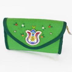 Green Trade Cloth Purse by Navajo artist JT Willie