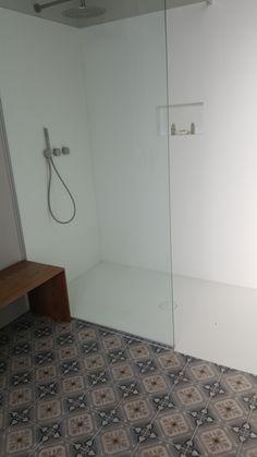 Walk in shower in our Junior Suites Walk In Shower, Tile Floor, Flooring, Tile Flooring, Wood Flooring, Floor