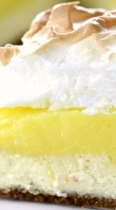 Lemon Meringue Cheesecake Pie.