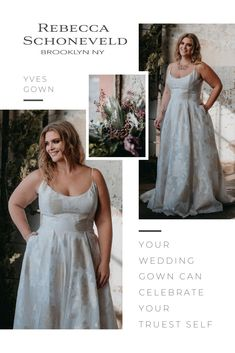 Meet Rebecca Schoneveld Bridal. Discover luxury plus-size wedding dresses that celebrate your truest self. Available in sizes 00-30. Attainably Priced. Handmade in Brooklyn, NY.