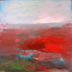 Red Landscape Original oil painting on canvas by BrookeWandall, $92.00