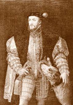 El célebre emperador Carlos V (1500-1558), a partir de un grabado de Fernando Slema (1752-1810) realizado en 1778 sobre el retrato de Tiziano (1490-1576) #miercolesretratos #EnciclopediaLibre (Public Domain)