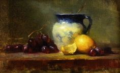 The Blue and White Pitcher by David Riedel Still Life Images, Still Life Art, Paintings I Love, Oil Paintings, Still Life Oil Painting, Portraits, Art Studies, Beautiful Paintings, Art And Architecture