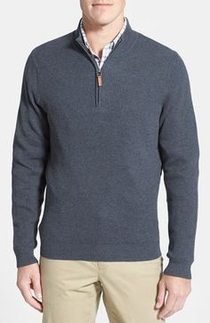 3d969e45870b Nordstrom Men s Shop Cotton   Cashmere Rib Knit Sweater (Regular   Tall)