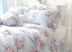 Shabby and elegant Pretty Blue Roses Cotton 4pc Bedding Sheet Set by Victoria's Deco, http://www.amazon.com/dp/B0040XJSPQ/ref=cm_sw_r_pi_dp_44zfrb0XHEWRQ
