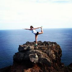 Still on my bucket list: yoga in Hawaii   Dancing at Makapu'u Point (Taken with Instagram)