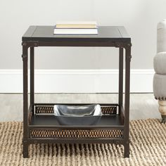 @Overstock - Infuse your living room or bedroom with this natural and casual accent end table. This industrial looking accent table is made from wood with wicker touches. Iron and exposed rivets on the corners add a nice touch to this 25.2-inch high table.http://www.overstock.com/Home-Garden/Bedford-Wicker-Accent-Wood-Top-End-Table/6248019/product.html?CID=214117 $123.29