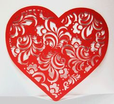 in love with this lace style for heart tattoo Lace Heart, Heart Art, Valentine Crafts, Valentines, Valentine Ideas, Silhouettes, Origami, Paper Doilies, Paper Lace
