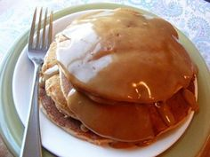 Fluffy Whole Wheat Pancakes | OAMC from Once A Month Mom