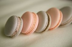 Macarons.  I am addicted, I have been eating way to many lately, so chewy and crunchy at the same time!