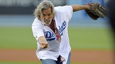 Jeff Bridges 'Bowls' First Pitch at Dodgers Game a la The Dude (Video)