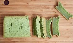 35 EASY Matcha recipes - With just six ingredients you can make a matcha mochi cake like the one above.