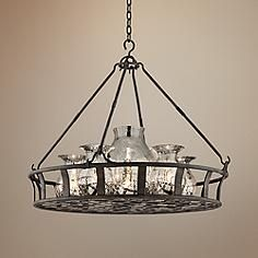 """Chianti Collection 33 1/4"""" Wide Antique Silver Chandelier"""