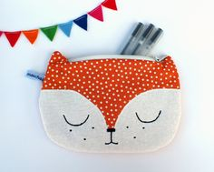 Tasche Fuchs // Purse fox by maschaa via DaWanda.com