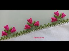 Saree Kuchu Designs, Kurti Neck Designs, Crochet Flower Patterns, Crochet Flowers, Creative Embroidery, Hand Embroidery, Knitted Shawls, Knitting Socks, Tatting