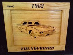 1962 Ford Thunderbird by Rickswoodworks1 on Etsy